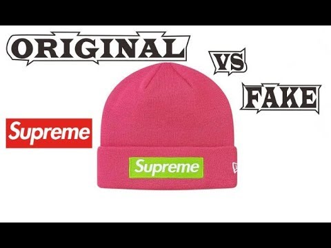 19ac5ee8d0961 Supreme New Era Box Logo Beanie Magenta Original   Fake - YouTube