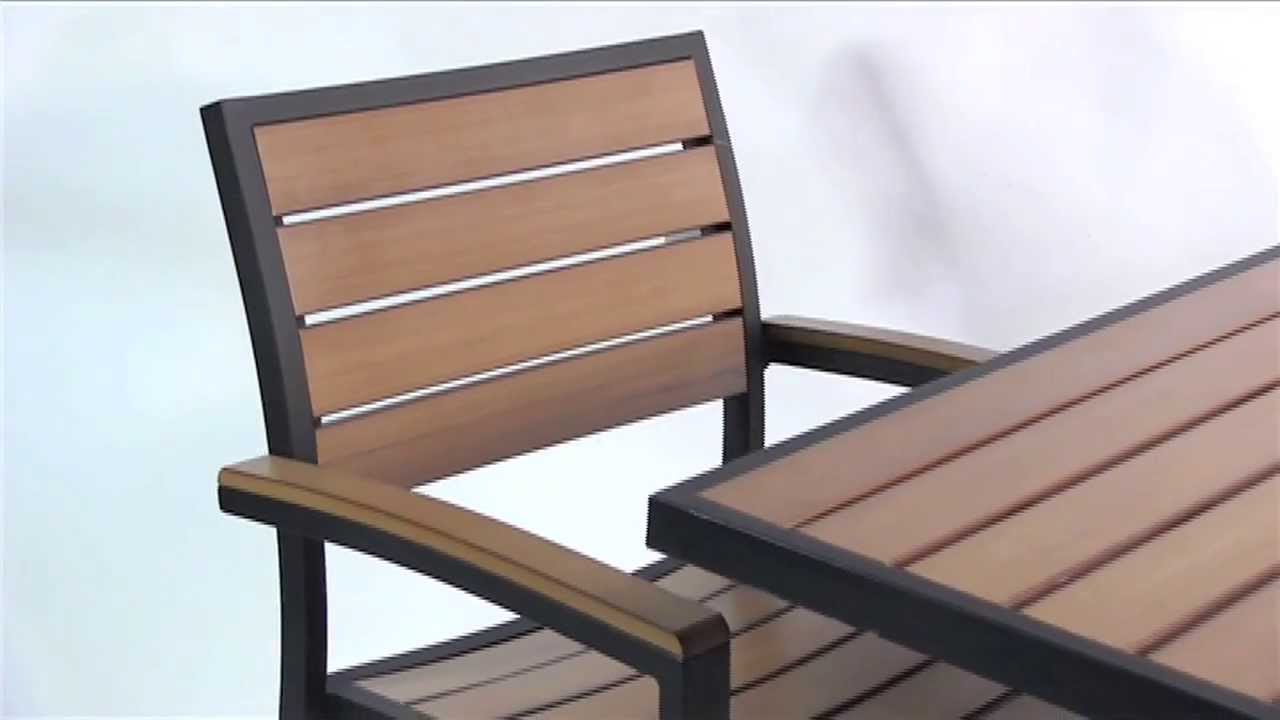 What Is Synthetic Teak Chair, Table Top, Barstool And Restaurant Furniture
