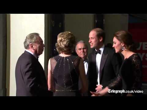 Duke and Duchess of Cambridge meet One Direction at Royal Variety Performance