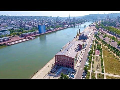 La promenade fluviale de la rive gauche (Rouen)
