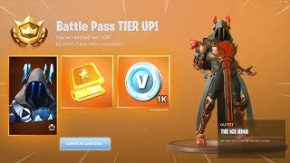 Unlocking The Ice King Tier 100 Skin On The First Day of Season 7!