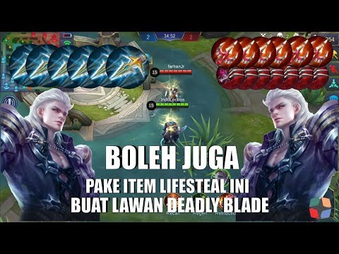 ITEM DEADLY BLADE VS ITEM LIFESTEAL ||| Ngalahin Deadly