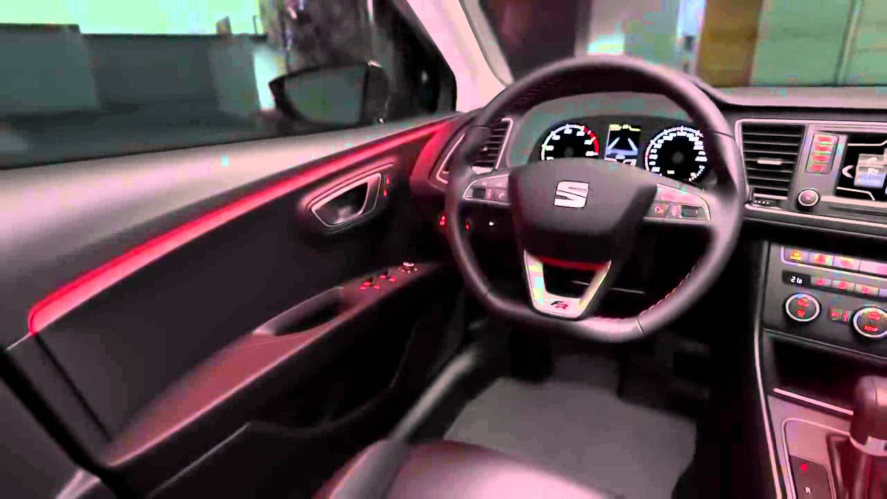 The new seat leon st led interior lighting youtube - Seat leon interior ...