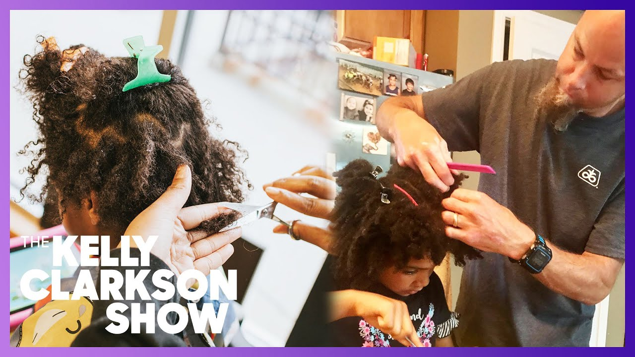 Dad's Braiding and Beading Hair Skills For His Daughter Wows Kelly