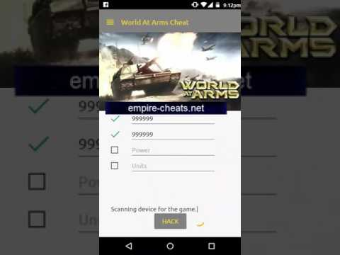 World At Arms Cheats Hack [power,units,coins,gold stars]