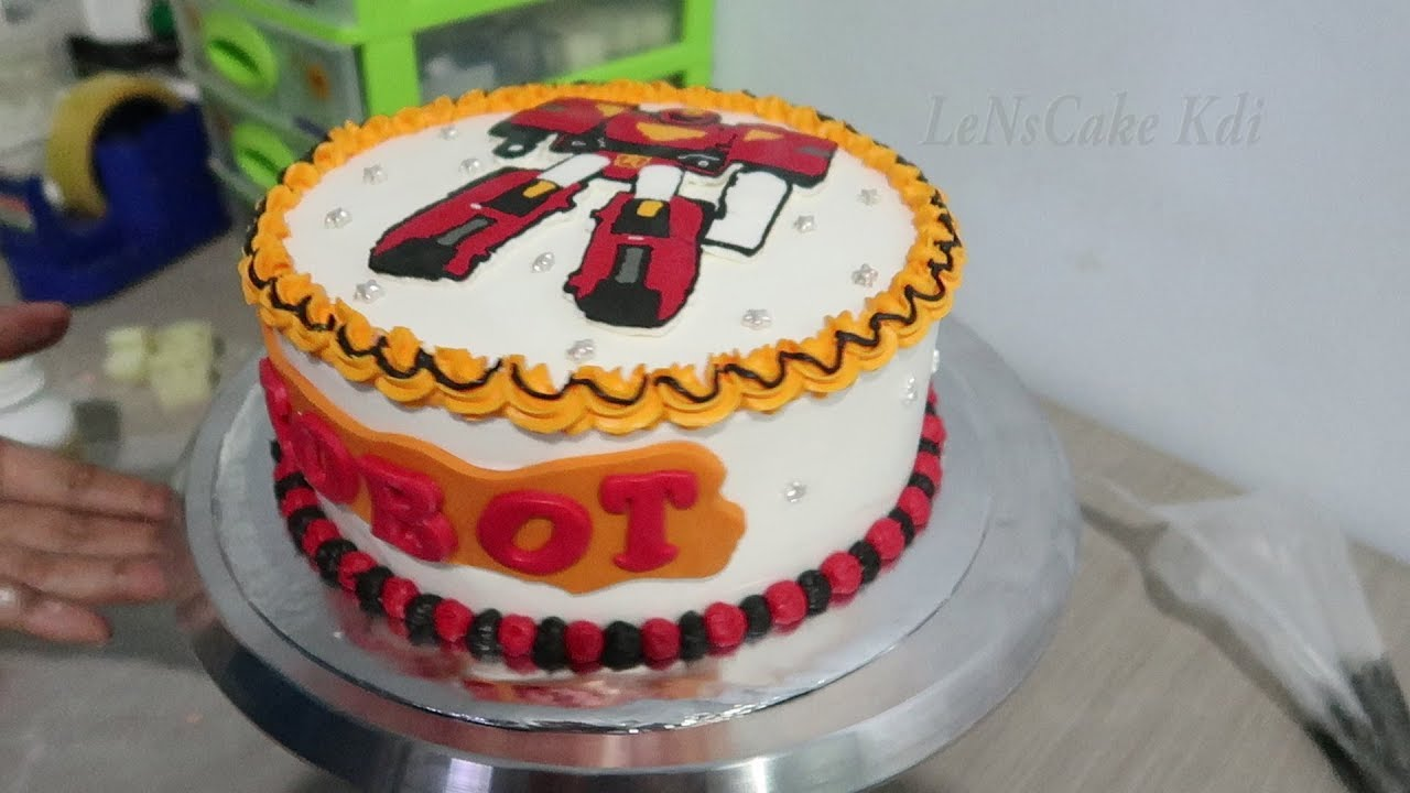 Birthday Cake For Kids Tobot Tart Cake Character