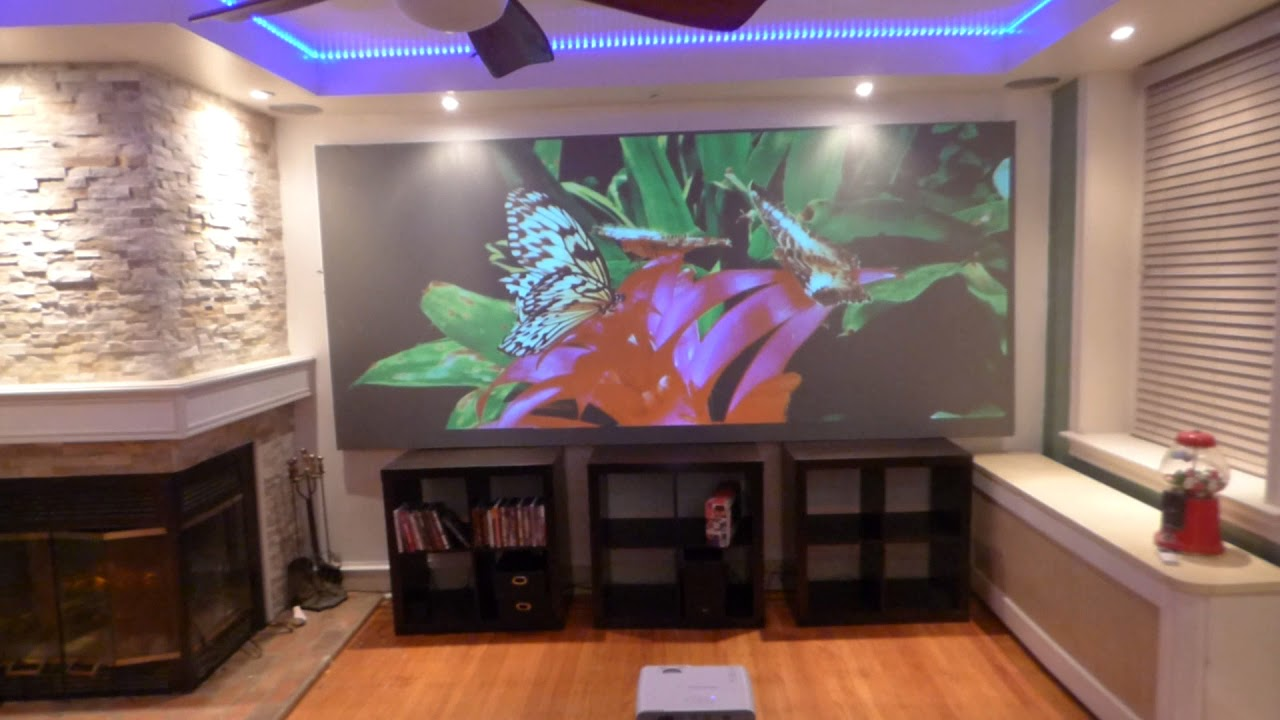 home ambient lighting. WHAT A REAL AMBIENT LIGHT PROJECTION SCREEN LOOK LIKE ON REALISTIC HOME THEATER SIZE! Home Ambient Lighting