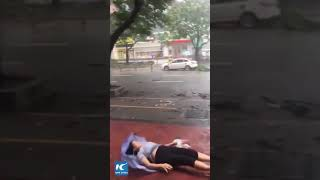 Dramatic moment typhoon Mangkhut sweeps across southern China