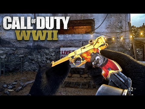 ROAD TO CHROME (GOLD P-08) - Call of Duty: WW2 Multiplayer Gameplay PS4 PRO