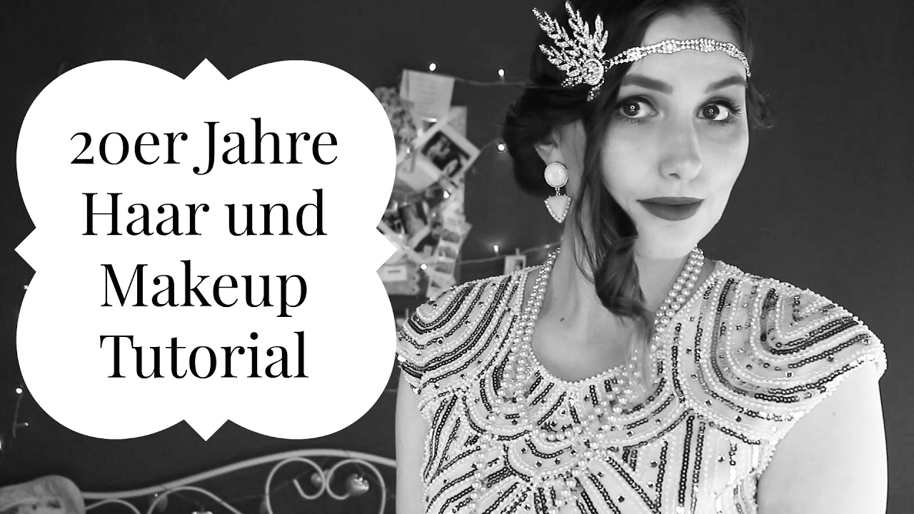 20er Jahre Gatsby Inspired Hair Makeup Tutorial Karneval
