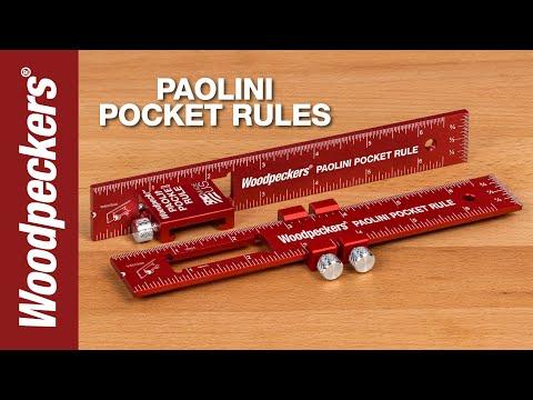 Woodpeckers 多功能精準6吋木作平尺【代購】雙尺寸標示 口袋尺 木作木工 JN