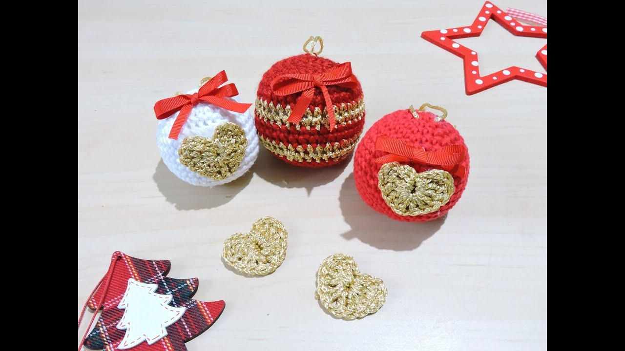 Bolas de Navidad de ganchillo Crochet Christmas Ornaments YouTube