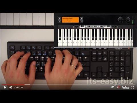 Онлайн пианино на клавиатуре. Демонстрация звуков.