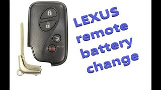 How to change smart key battery Lexus IS, LS, GS, ES, HS Years 2006