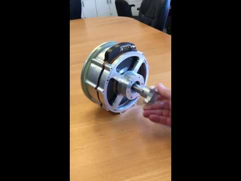 Magnetic gear integrated with dual halbach array motor for Halbach array motor generator