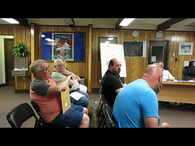 Peru Town Board Meeting  6-10-19