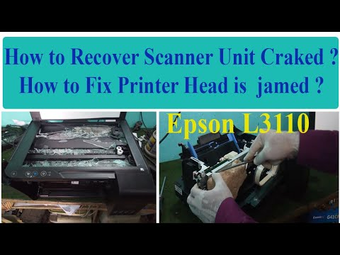 how-fix-head-jamed-and-red-light-blinking-in-epson-l3110-printer-?-||-braked-scaner-recover||