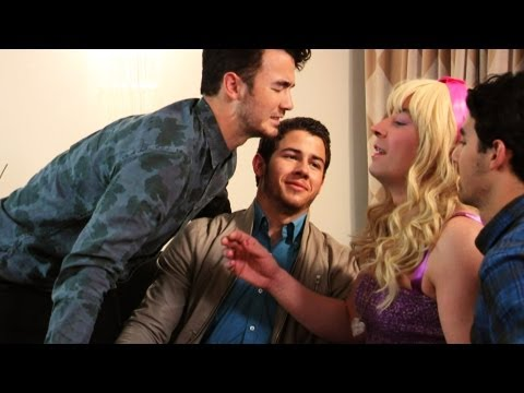 Thumbnail: Jonas Brothers Meet Their #1 Fan (Late Night with Jimmy Fallon)