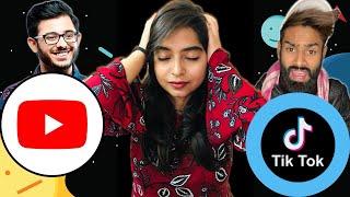 YOUTUBE VS TIKTOK Carryminati The End Reaction | Deeksha Sharma