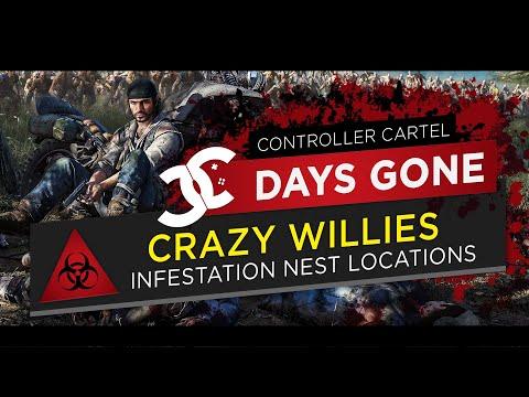 Days Gone Crazy Willies Infestation Nest Locations 1