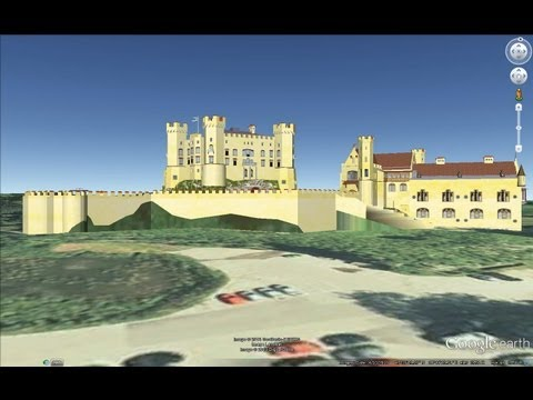 ANCIENT CASTLES OF GERMANY IN GOOGLE EARTH