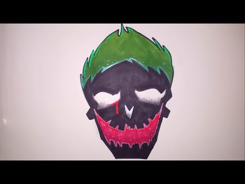 How To Draw The Joker Suicide Squad Logo Step By Step Easy Youtube