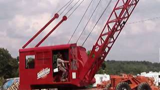The first Manitowoc crane -The Moore Speedcrane 1930