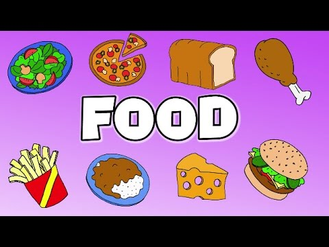 Learn Food Vocabulary Talking Flashcards - YouTube - vocab cards