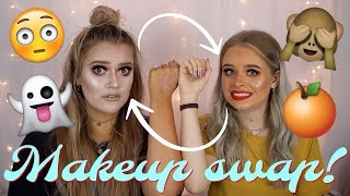 One of Emmas Rectangle's most viewed videos: Makeup bag swap! Get ready with us | Ft. Sophdoesnails | EmmasRectangle