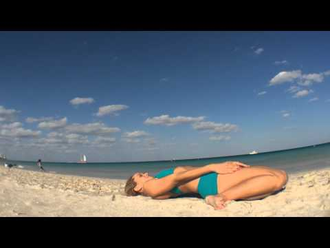 Supta Virasana, Reclining Hero Yoga Posture with Kino