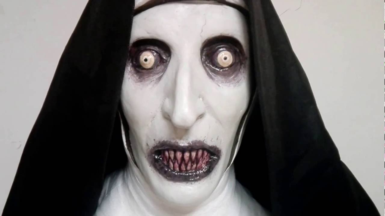 VALAK Deluxe Latex Mask The Conjuring 2 Scary!! - YouTube