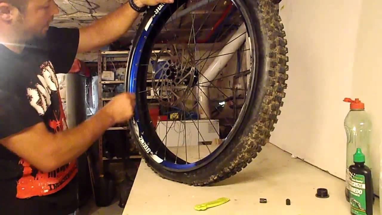 Tubeless casero para bici de montaa  YouTube
