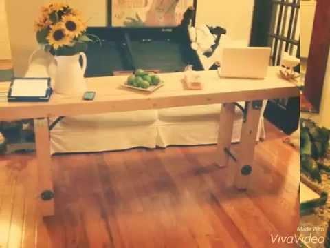 Cmo hacer una mesa rstica de Madera YouTube