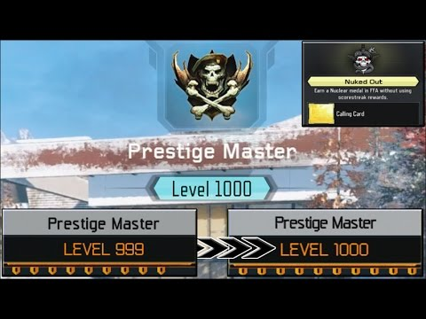 NUKED OUT FOR A LEVEL 999 on the FIRST TRY! - (UNLOCKING Level 1000 Master Prestige!)