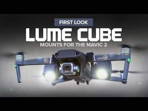 Lume Cube mounts for the DJI Mavic 2 Pro and Zoom