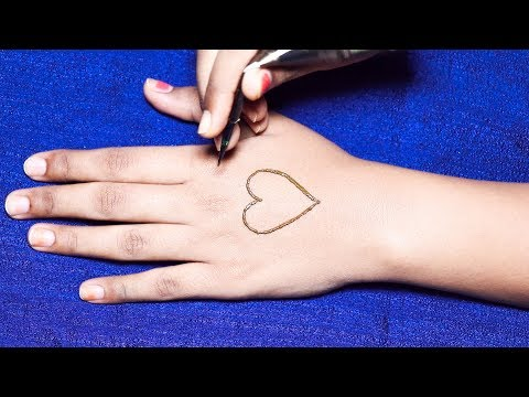 Heart Special mehndi design for hands 2018 * mehndi designs step by step * easy mehndi designs