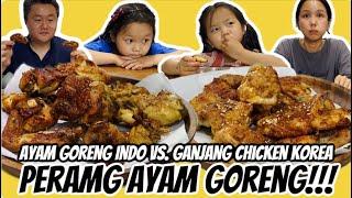 PERANG AYAM GORENG! Ayam Goreng Indonesia vs. Ganjang Chicken Korea: Reaksi orang Korea