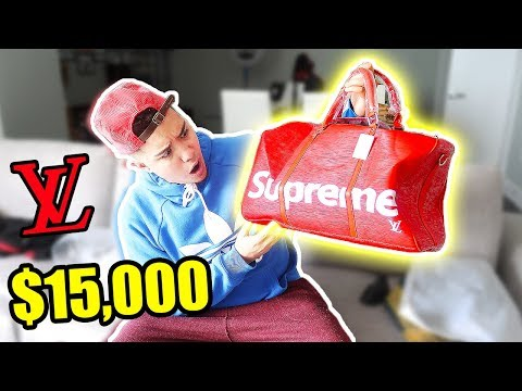 MEXICAN HYPEBEAST BUYS $15,000 LOUIS VUITTON SUPREME BAG FROM IOFFER (SUPREME UNBOXING)