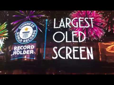 Guinness World Record for the Largest OLED Screen