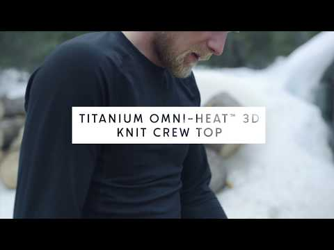 Men's Titanium Omni-Heat™ 3D Knit Crew Top