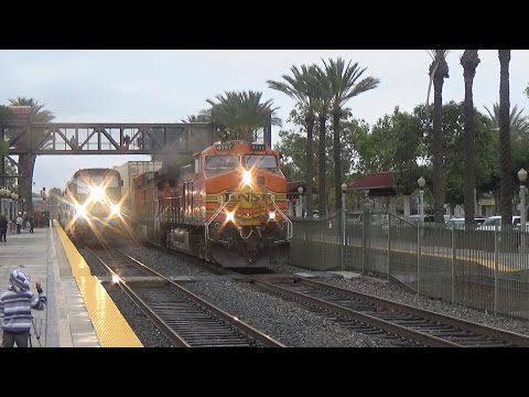 MUST SEE Fullerton RR Days 2017, FT; BNSF, NS, Metrolink, Amtrak, Horn shows,and MORE!!