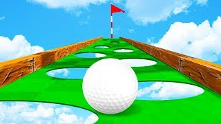 100% СЛОЖНАЯ ЛУНКА! ПРОЕХАЛИ ПО УЗКОЙ ДОРОГЕ ЧЕРЕЗ ДЫРЫ И ПОПАЛИ В ЛУНКУ В ГОЛЬФ ИТ (Golf It)