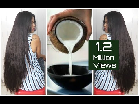 DIY Natural Coconut Milk Cream For Soft & Shiny Hair|Sushmita's Diaries