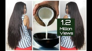 DIY Natural Coconut Milk Cream For Soft & Shiny Hair|Sushmita