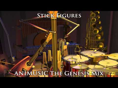 ANIMUSIC The Genesis Mix: Stick Figures