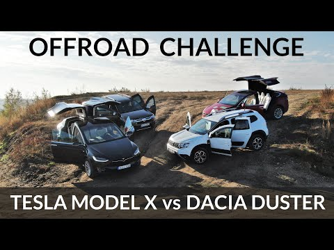 Tesla Model X takes on intense off-road challenge against Hummer H1 and Dacia Duster