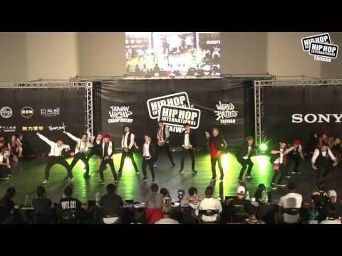 Fusion Modern [ Mega Crew ] - 2016 HHI Taiwan Hip Hop Dance Championship