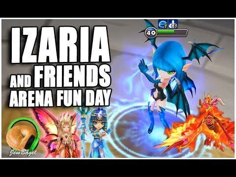 SUMMONERS WAR : Izaria and Friends Arena Fun Day! (Perna, Bastet, Orion, and more)
