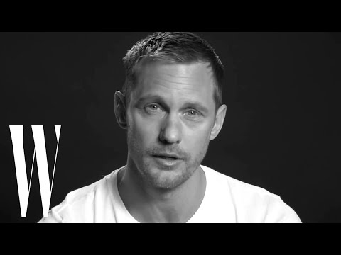 Alexander Skarsgård's First Kiss Made Him Cry  Screen Tests  W magazine