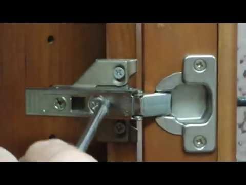 Blum hinge adjustment - YouTube